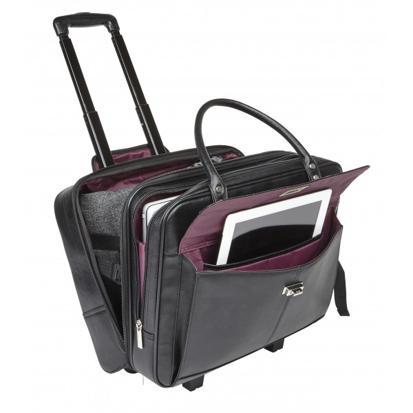 "Falcon 2 Wheeled 15.6"" Laptop Trolley Case - FI2569T Black"