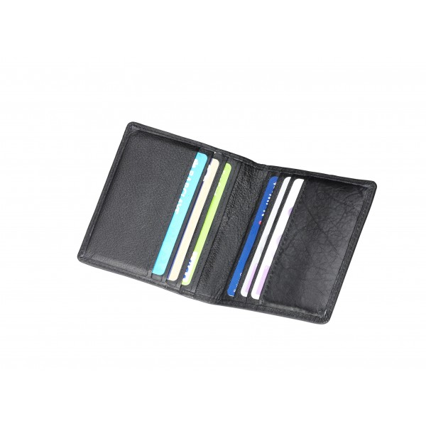 Falcon Leather Credit Card Holder - FI4008 Black