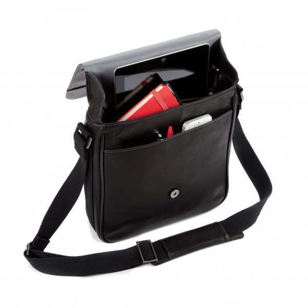 "Falcon Colombian Leather 10.5"" Tablet Bag - FI6701 Black"