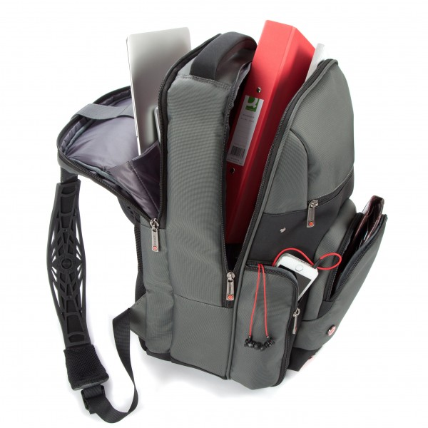 i-stay 15.6 Laptop/Tablet Backpack is0503 Grey, Black & Red
