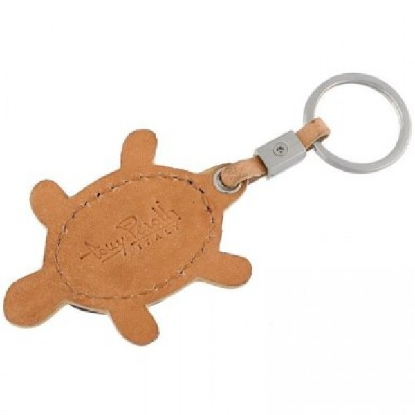 Tony Perotti Italian Vegetale Leather Turtle Key Chain - TP0127 Black