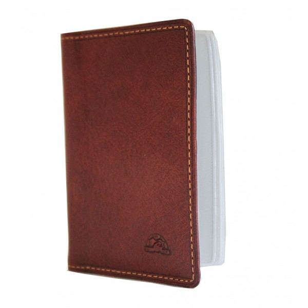Tony Perotti Italian Vegetale Leather Credit Card Holder - TP1007 Brown
