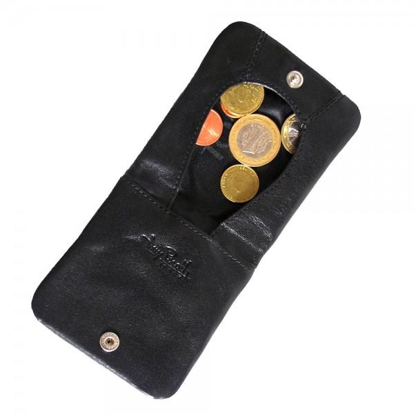 Tony Perotti Italian Vegetale Leather Slim Tray Coin Holder - TP1636G Black