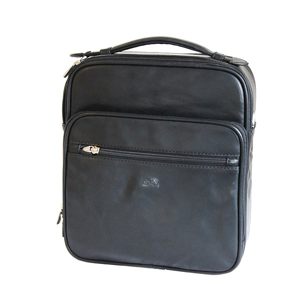 Tony Perotti Italian Vegetale Leather Flight Bag - TP7058 - Black