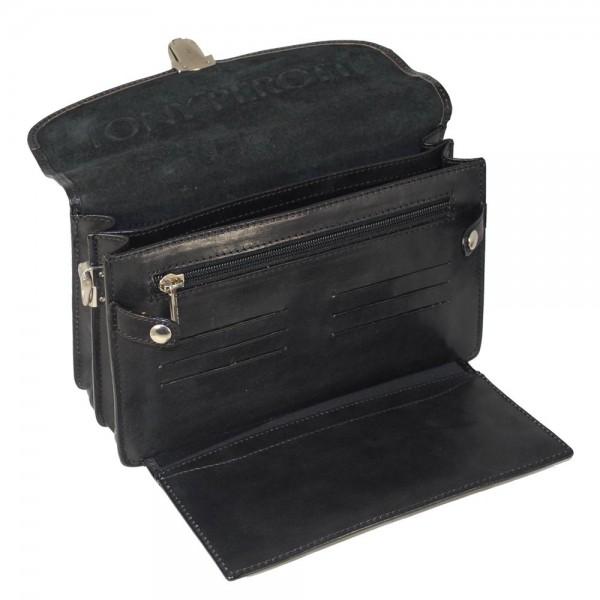 Tony Perotti Italian Versilia Leather Satchel - TP8000 Black