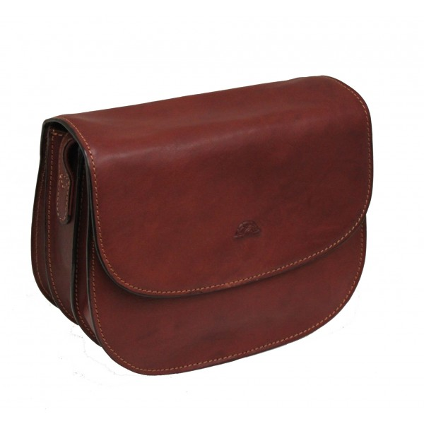 Tony Perotti Italian Vegetale Leather Handbag - TP8117G Brown