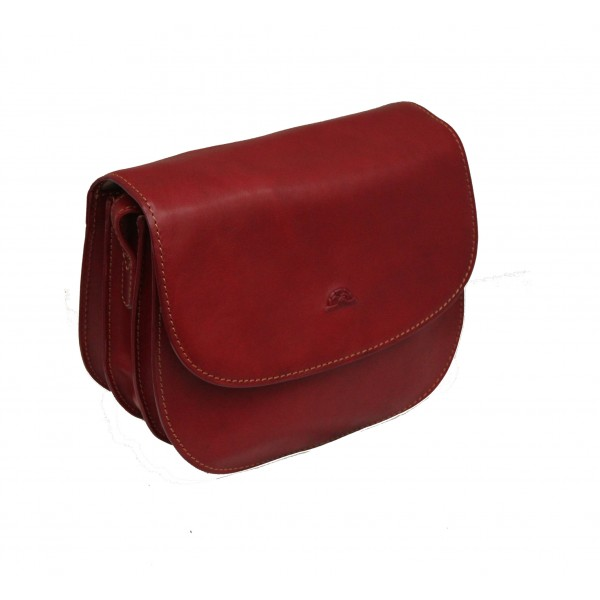 Tony Perotti Italian Vegetale Leather Handbag - TP8117G Red