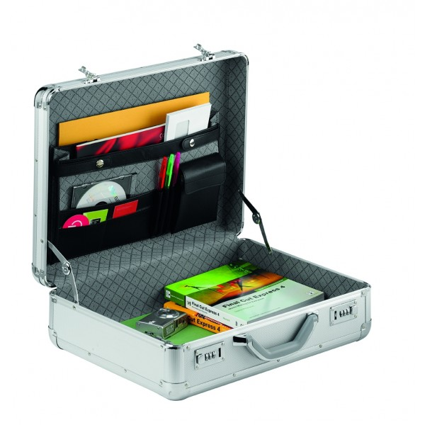Falcon Aluminium & ABS Briefcase Marked #FI2992 Silver