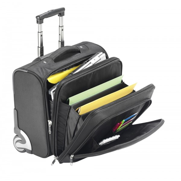 "15.6"" Falcon Mobile Laptop Business Trolley Case - FI2567T Black"