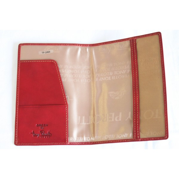 Tony Perotti Italian Vegetale Leather Passport Holder - TP2464 Red