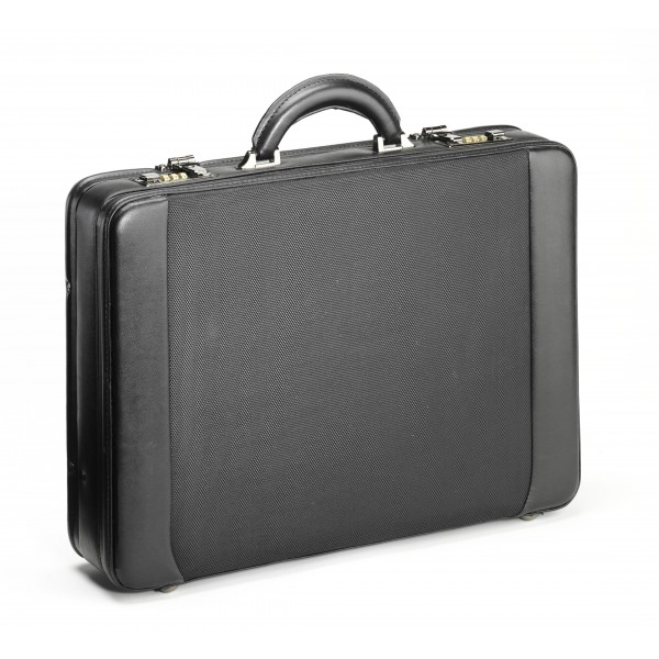 "Falcon Faux Leather & Polyester 14"" Laptop Briefcase - FI2283 Black"