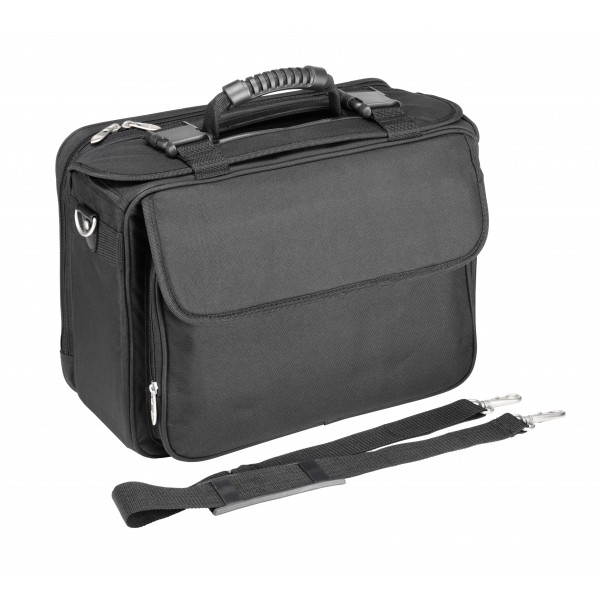 "Falcon 15.6"" Laptop Polyester Pilot Case - FI2559 Black"