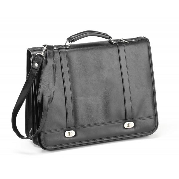 Falcon Faux Leather Briefcase - FI2568 Black
