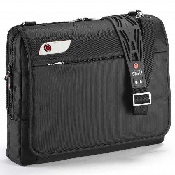 """i-stay 15.6"""" Laptop Messenger Bag is0103 Black"""