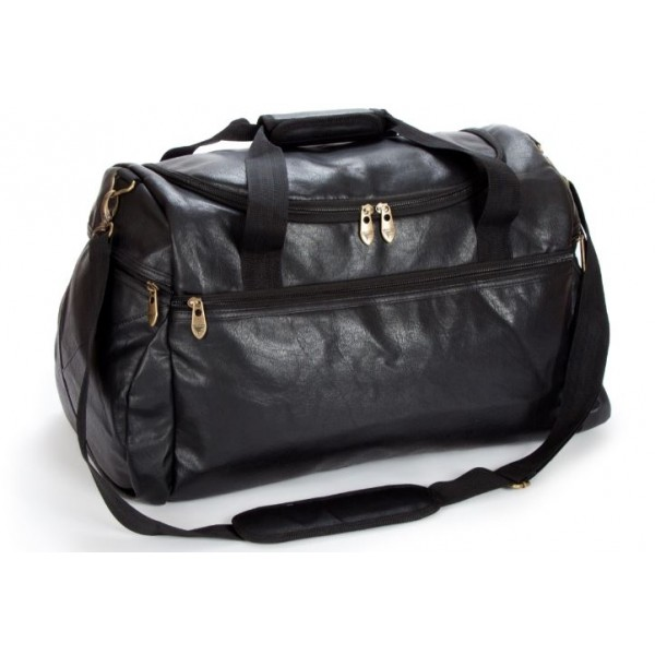 Falcon Faux Leather Sport Travel Holdall - FI8128 Black