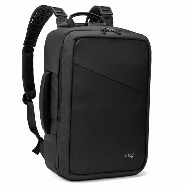"i-stay 15.6"" Anti-theft Laptop & Tablet Backpack with USB - Black"