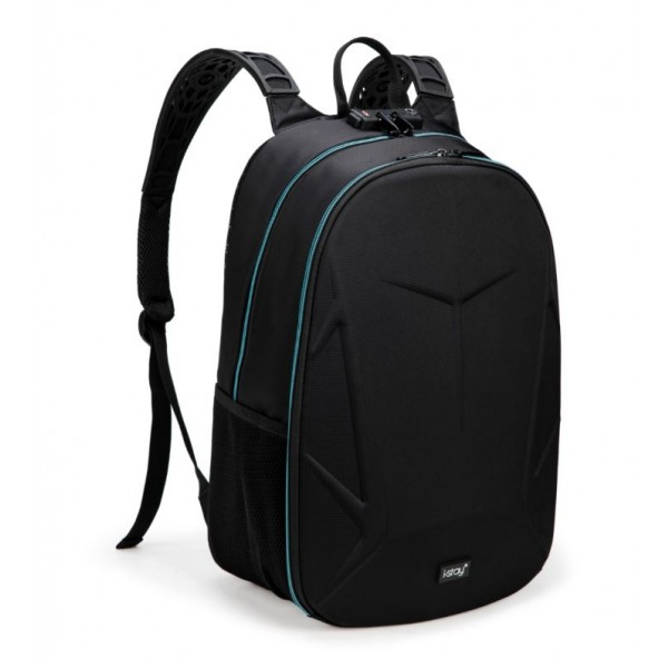 "i-stay 15.6"" Laptop Gaming Backpack with USB & Anti-Theft - Black/Blue"
