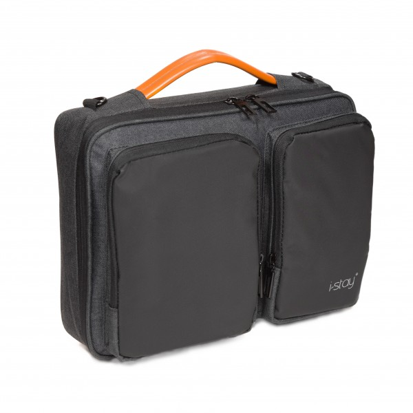 """i-stay 13.3"""" Laptop Sleeve - is0801 Black and Grey"""