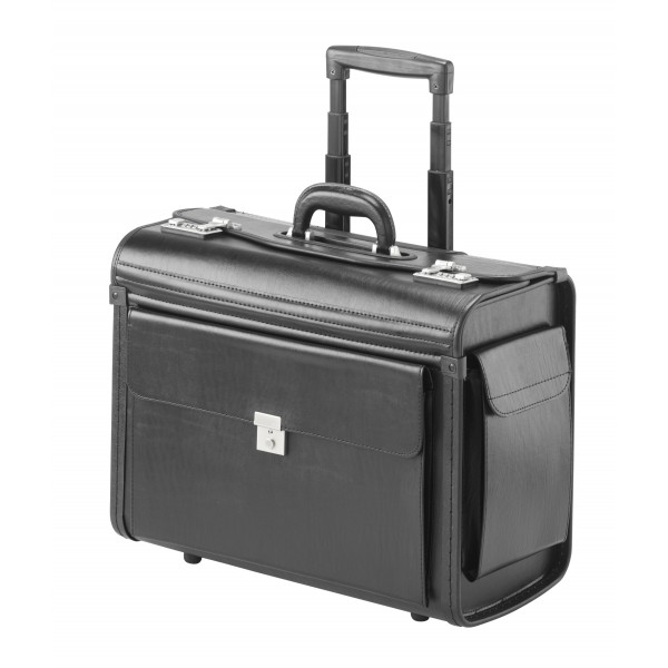 "Falcon 2 Wheeled 17"" Laptop Pilot Trolley Case - FI2340T Black"