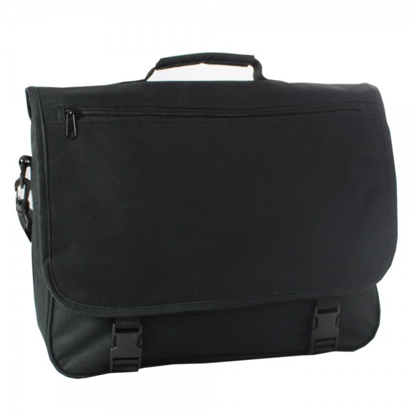 "Falcon 15.6"" Laptop Messenger Bag - FI2511 Black"
