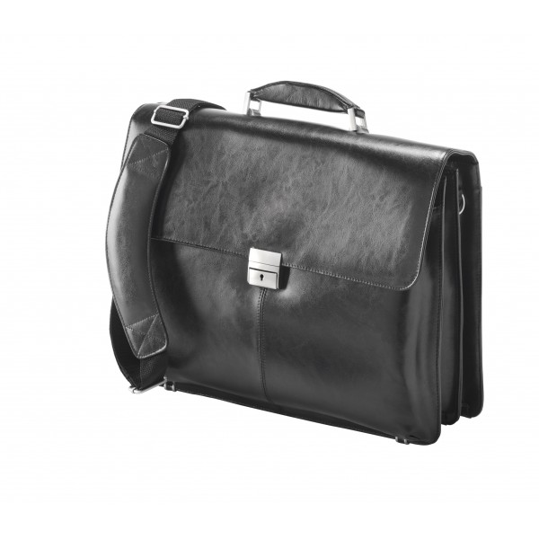 "Falcon Leather 15.6"" Laptop Case - FI2564L Black"