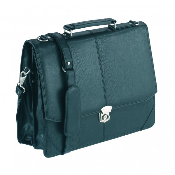 Falcon Faux Leather Executive Briefcase - FI2584 Black