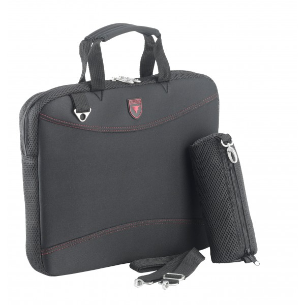 "Falcon Neoprene 15.6"" Laptop Sleeve - FI2598 Black/Red"