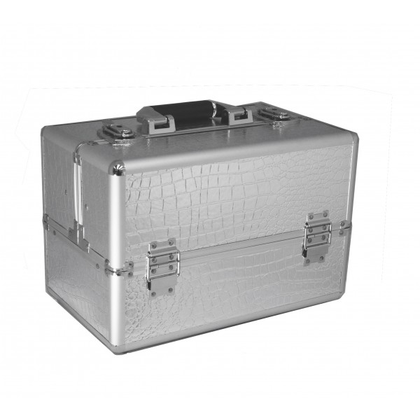 Vanity Flair Large Vanity Case - FI2802 Silver