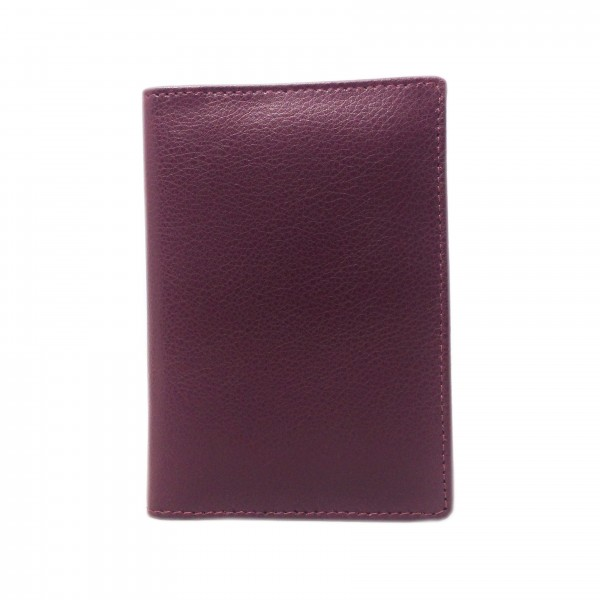 Falcon Leather Passport Wallet - FI4011 Burgundy