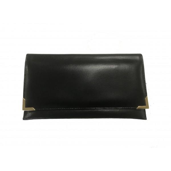 Falcon Leather Travel Wallet - FI4020 Black