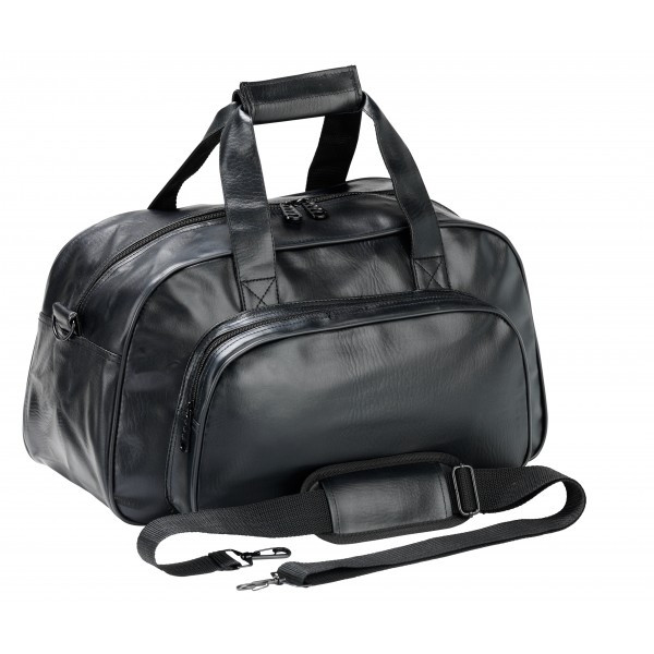 Falcon Faux Leather Sport Travel Holdall - FI4305 Black