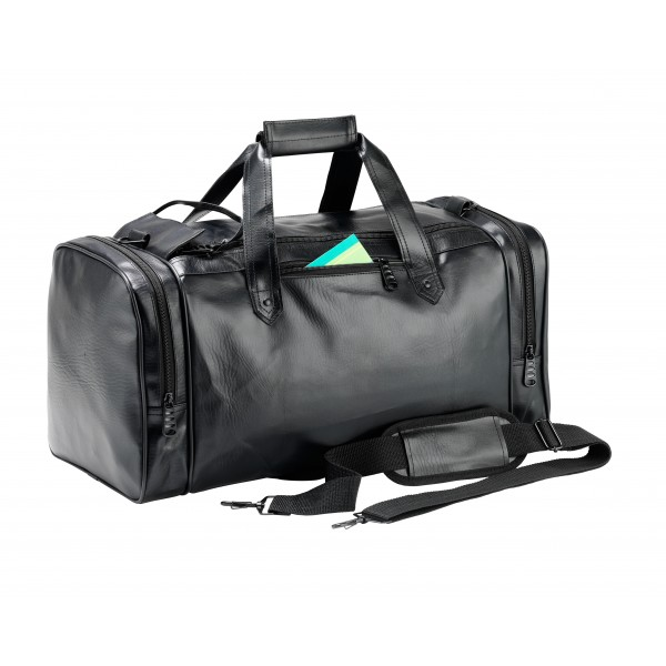 Falcon Faux Leather Sport Travel Holdall - FI4306 Black