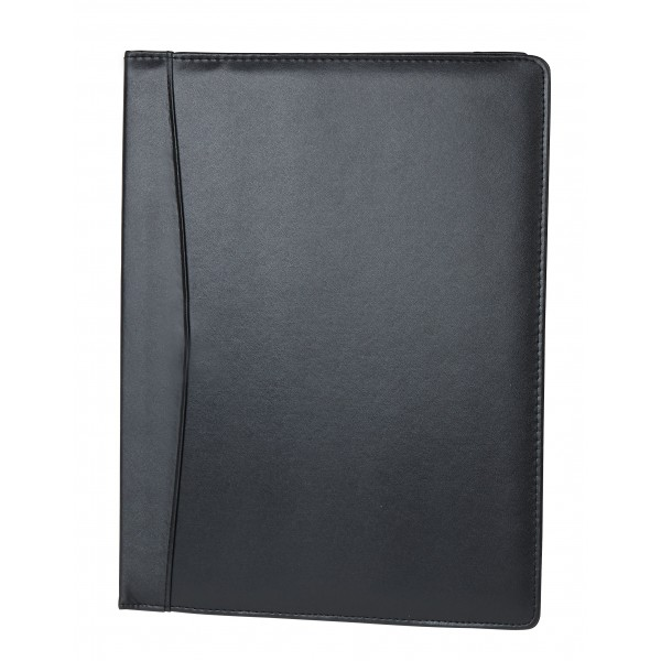 Falcon A4 Faux Leather Entry Level Conference Folder - FI6510 Black