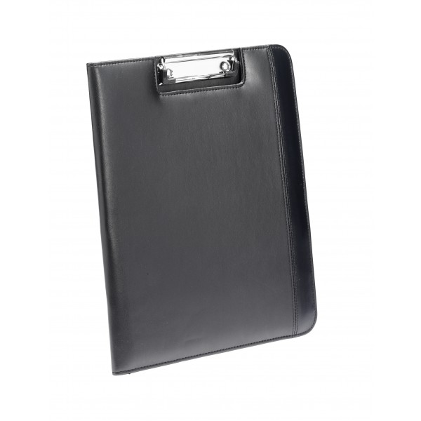 Falcon A4 Faux Leather Conference Folder With Clipboard - FI6539 Black