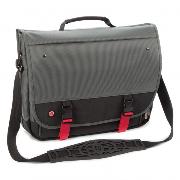 "i-stay 15.6"" Laptop/Tablet Messenger Bag is0501 Black, Grey and Red"