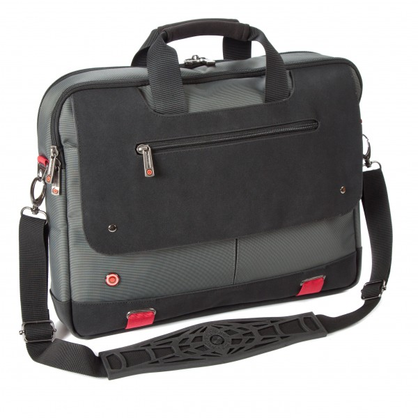 "i-stay 15.6"" Laptop/Tablet Twin Handle Bag is0502 Grey, Black & Red"