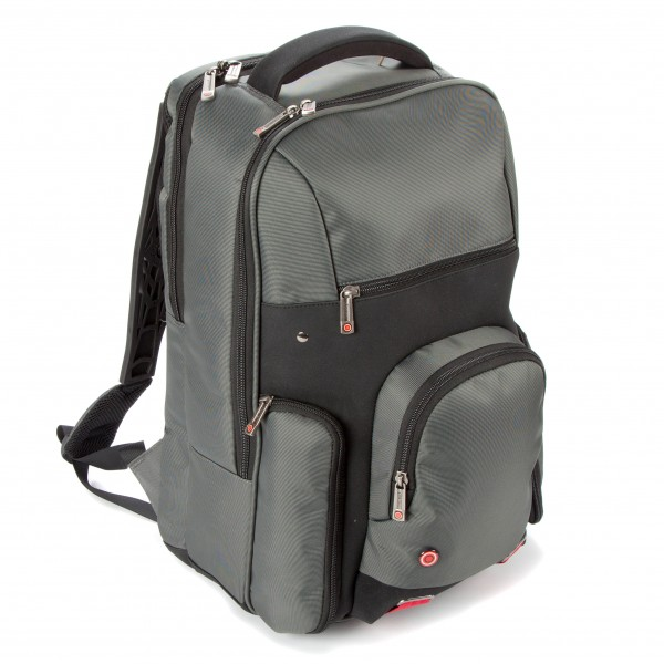 "i-stay 15.6"" Laptop/Tablet Backpack is0503 Grey, Black & Red"