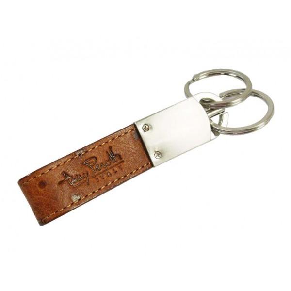 Tony Perotti Italian Ostrich Leather Key Fob - TP01690 Cognac