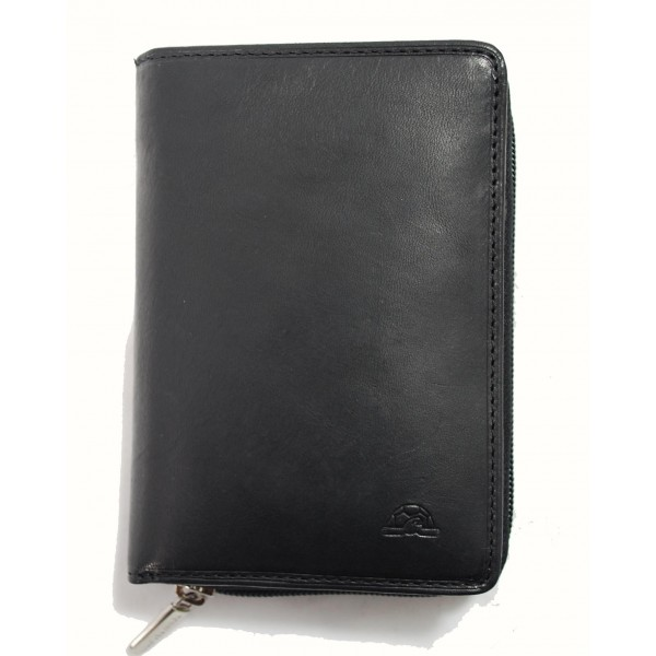 Tony Perotti Italian Vegetale Leather Purse with Coin Section - TP0311 Black