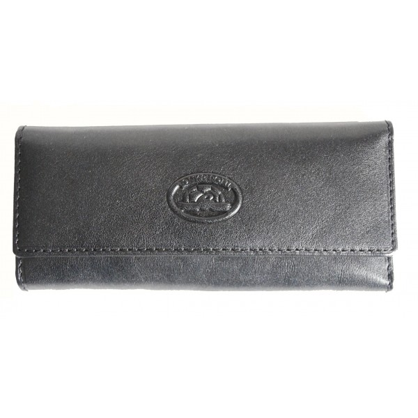 Tony Perotti Italian Versilia Leather 4 Ring Key Case - TP0344 Black