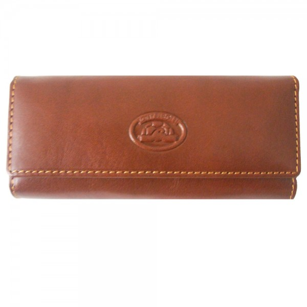 Tony Perotti Italian Versilia Leather 4 Ring Key Case - TP0344 Brown