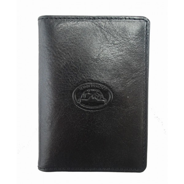 Tony Perotti Italian Vegetale Leather Credit Card Holder - TP1007 Black