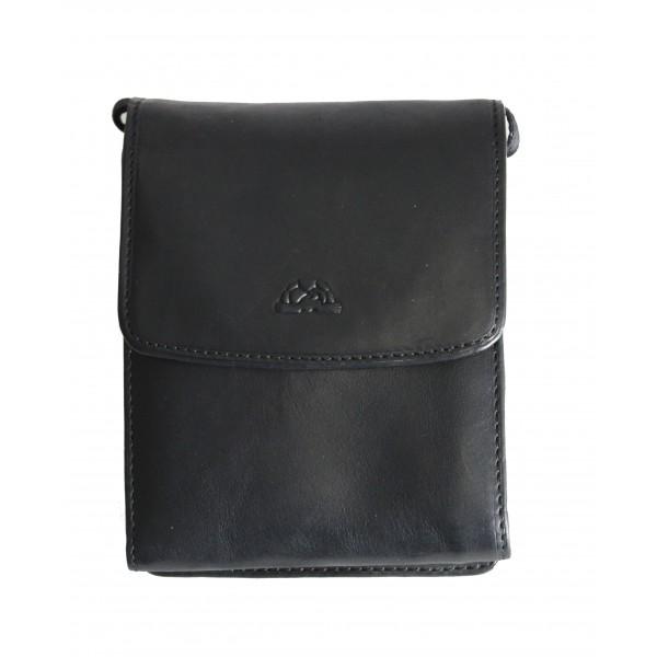 Tony Perotti Italian Vegetale Leather Travel Bag - TP2128G Black