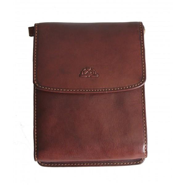 Tony Perotti Italian Vegetale Leather Travel Bag - TP2128G Brown