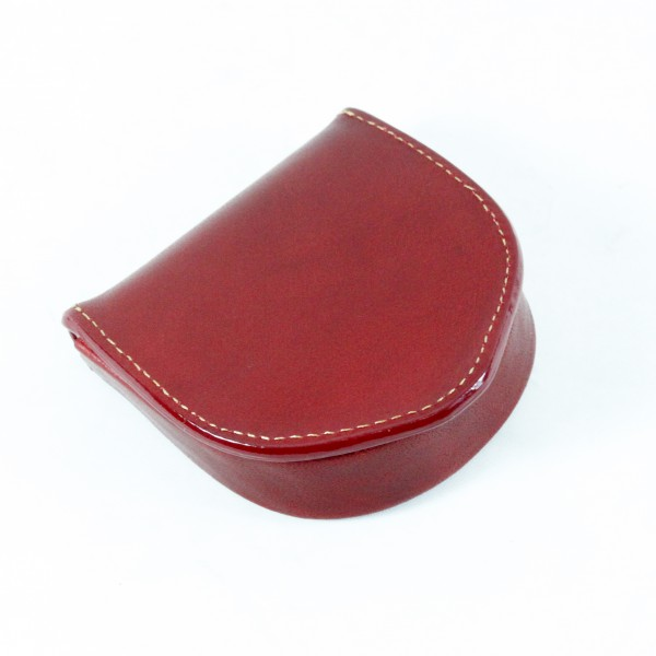 Tony Perotti Italian Vegetale Leather Coin Tray Purse - TP2132G Red