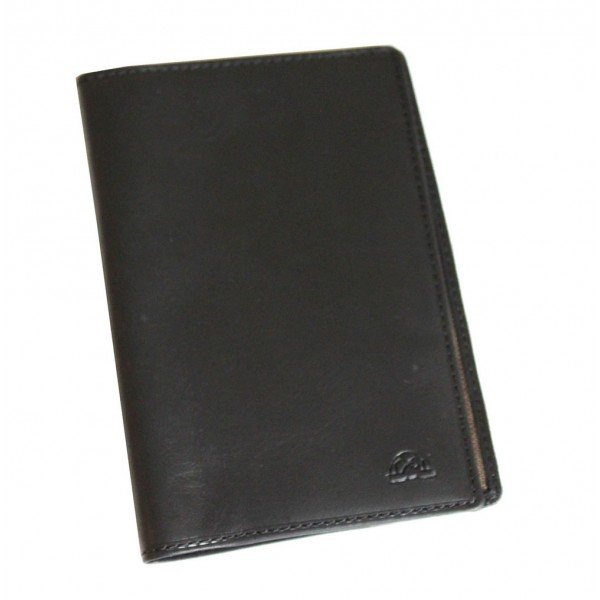 Tony Perotti Italian Vegetale Leather Passport Holder - TP2464 Black