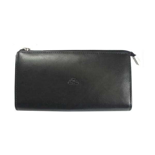 Tony Perotti Italian Vegetale Leather Large Purse - TP2596G Black