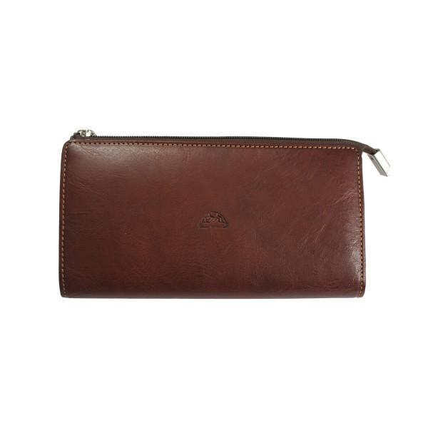 Tony Perotti Italian Vegetale Leather Large Purse - TP2596G Brown