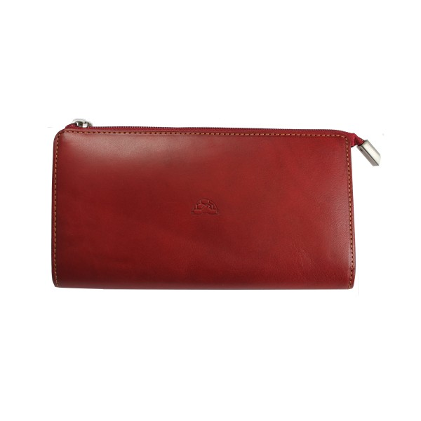Tony Perotti Italian Vegetale Leather Large Purse - TP2596G Red