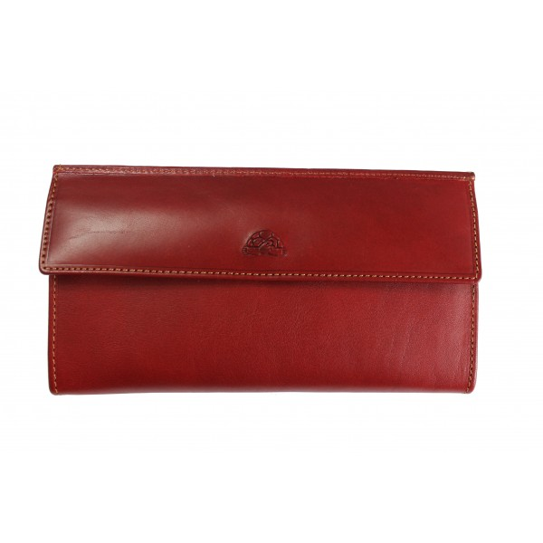 Tony Perotti Italian Vegetale Leather Purse - TP2966G Red